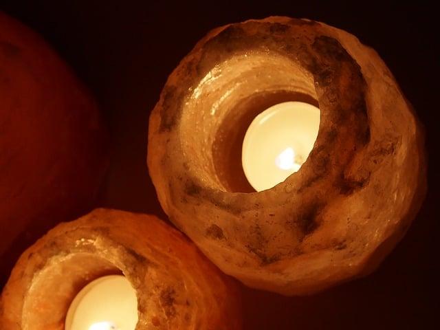 salt candle holders benefits